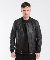 Pretty Green Defiance Perforated Leather Jacket