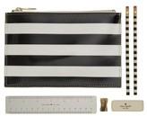 Kate Spade Stripe Pencil Pouch Set - White