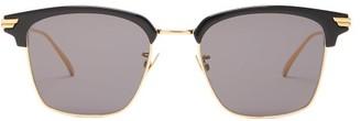 Bottega Veneta Logo-engraved Square Metal Sunglasses - Black