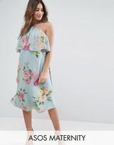 Asos Dress In Crinkle Floral