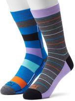 Men's Funky Socks 2-pack Digi Colorblock Stripe Derby Socks