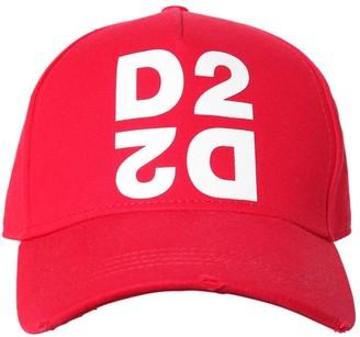 DSQUARED2 D2 Print Cotton Canvas Baseball Hat