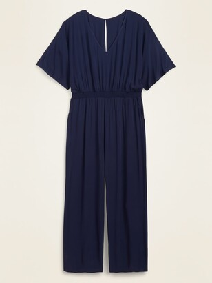 Old Navy Soft-Woven Smocked-Waist Plus-Size Jumpsuit