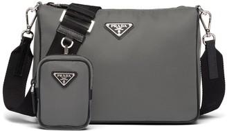 Prada Logo-Plaque Nylon Crossbody Bag