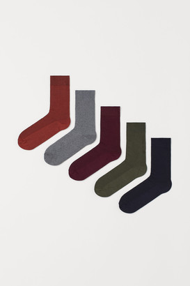 H&M 5-pack Ribbed Socks