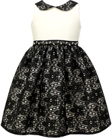Jayne Copeland Black & White Lace A-Line Dress - Toddler & Girls