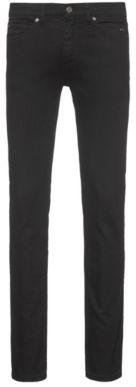 HUGO BOSS Extra-slim-fit black jeans in stretch denim