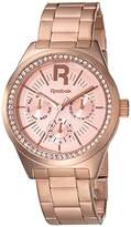 Reebok Classic R Women's Quartz Watch with Rose Gold Dial Analogue Display and Rose Gold Stainless Steel Rose Gold Plated Bracelet RC-CDD-L5-S3S3-33