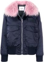 Dondup contrast collar bomber jacket