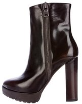 Brunello Cucinelli Patent Leather Platform Ankle Boots
