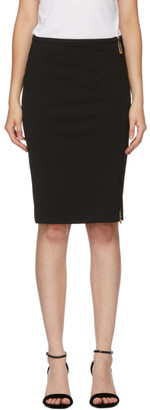 Versace Black Zip Mid-Length Skirt