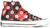Converse polka dot hi-top sneakers