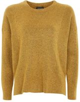 Topshop Pointelle rib crew neck jumper