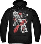 Batman DC Comics Harley Quinn Smoking Gun Adult Pull-Over Hoodie