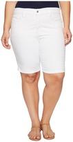 NYDJ Plus Size - Plus Size Briella Shorts in Optic White Women's Shorts