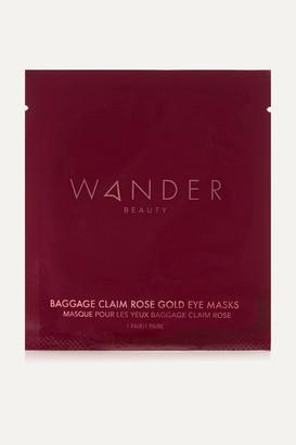 Wander Beauty Baggage Claim Rose Gold Eye Masks X 6
