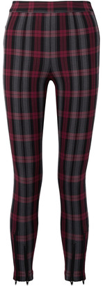 alexanderwang.t Zip-embellished Plaid Cotton-blend Twill Skinny Pants