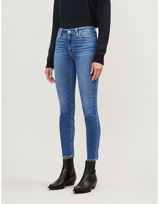 Paige Hoxton cropped skinny faded high-rise jeans