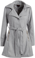 Yoki Women's Car Coats H. - Heather Gray Zip-Pocket Belted Coat - Women