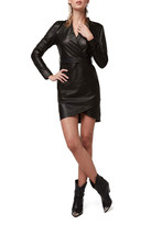 Diane von Furstenberg As By La Nuit Leather Dress