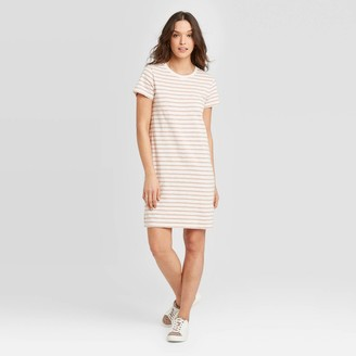 Universal Thread Women's Striped Short Sleeve T-Shirt Dress - Universal ThreadTM