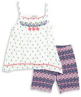 Little Lass Girls 2-6x Girls' Geometric Top and Shorts Set