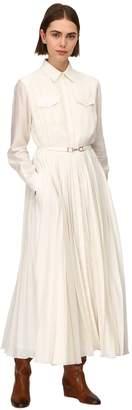 Gabriela Hearst ERELLA SHEER SILK & VIRGIN WOOL DRESS