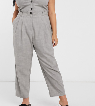 ASOS DESIGN Curve mansy 3 piece suit pants in taupe texture