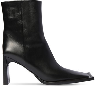 Balenciaga 90mm Flat Leather Ankle Boots