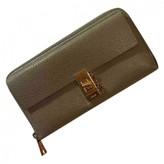 Chloã© ChloA Drew Grey Leather Wallets