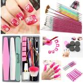 Lookathot 84PCS Nail Art Set- Foundational Manicure Pedicure Tools All Here- Suitable for Beginners and Professionals