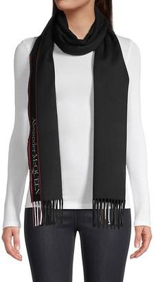 Alexander McQueen Logo Wool & Cashmere Scarf