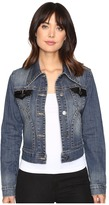 Stetson Shrunken Denim Jacket w/ Sequin Fabric