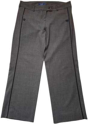 Basile Grey Wool Trousers for Women