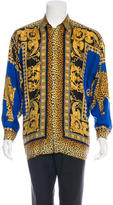 Versace Silk Baroque Jaguar Shirt