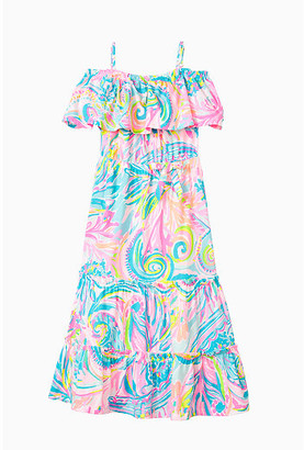 Lilly Pulitzer Girls Seraphina Off-The-Shoulder Dress