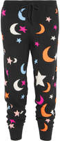 Chinti and Parker Midnight Sky Intarsia Cashmere Track Pants - Black