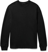 Alexander Wang - Embroidered Distressed Loopback Cotton-jersey Sweatshirt