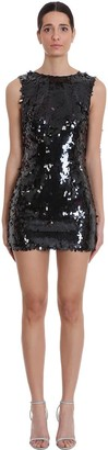 NERVI Marina Dress In Black Polyester