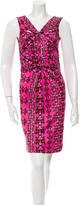 M Missoni Printed Drape-Accented Dress w/ Tags