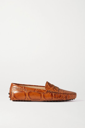 Tod's Gommino Croc-effect Leather Loafers - Tan