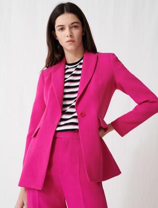 Maje Fuchsia tailored jacket