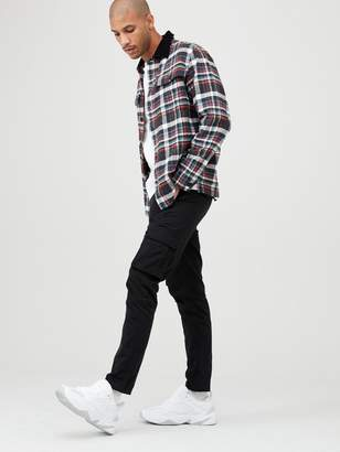 Very Long Sleeved Checked Overshirt - Multiple Colours