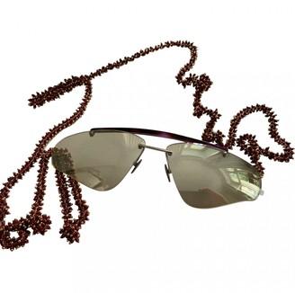 Acne Studios Brown Metal Sunglasses