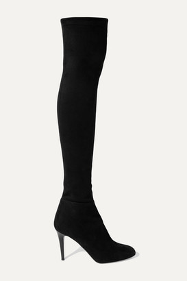 Jimmy Choo Toni 90 Stretch-suede Over-the-knee Boots - Black