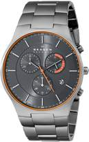 Skagen Men's SKW6076 Balder Quartz/Chronograph Titanium Gray Watch