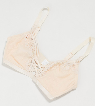 ASOS DESIGN Maternity Nursing dobby lace soft triangle bra