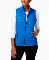 Alfred Dunner Petite Quilted Fleece Vest