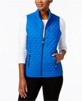 Alfred Dunner Petite Quilted Fleece Vest
