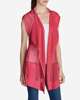 Eddie Bauer Women's Beachside Long Vest Sweater